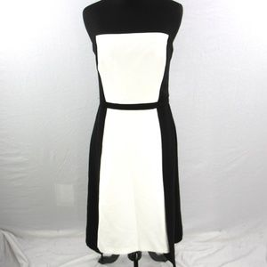 New WHBM Strapless Colorblock Prom Party Dress